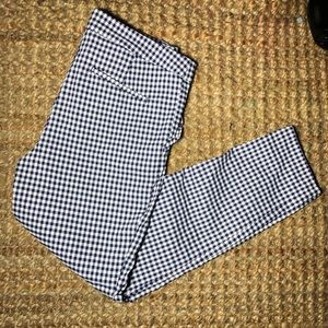 cynthia rowley checkered ruffle pocket pants 10